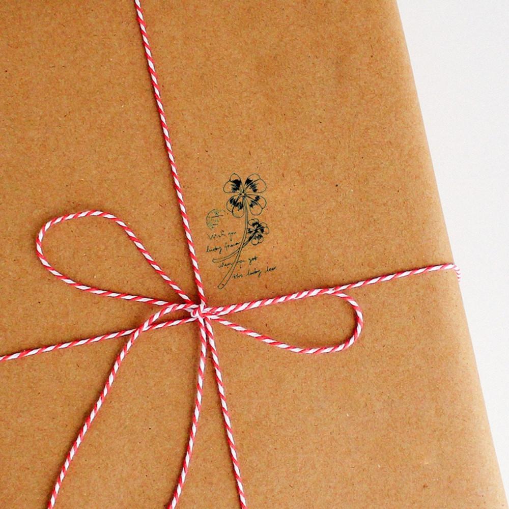 ختم خشبي زهور أوراق ختم للرسائل وتغليف الهدايا أختام رسالة وهدايا طابع