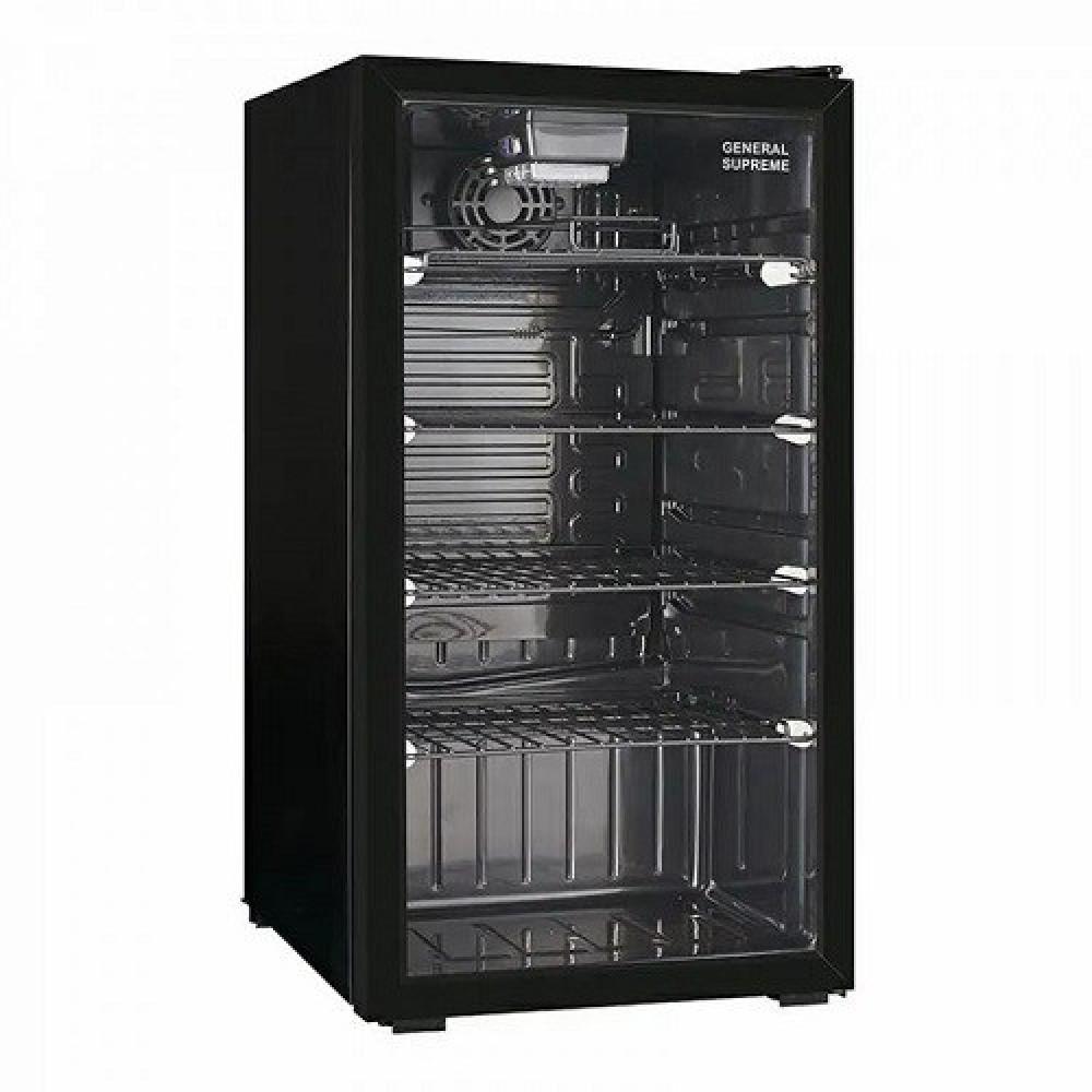 ثلاجة عرض جنرال سوبريم 72 لتر اسود General Supreme Refrigerator GS128
