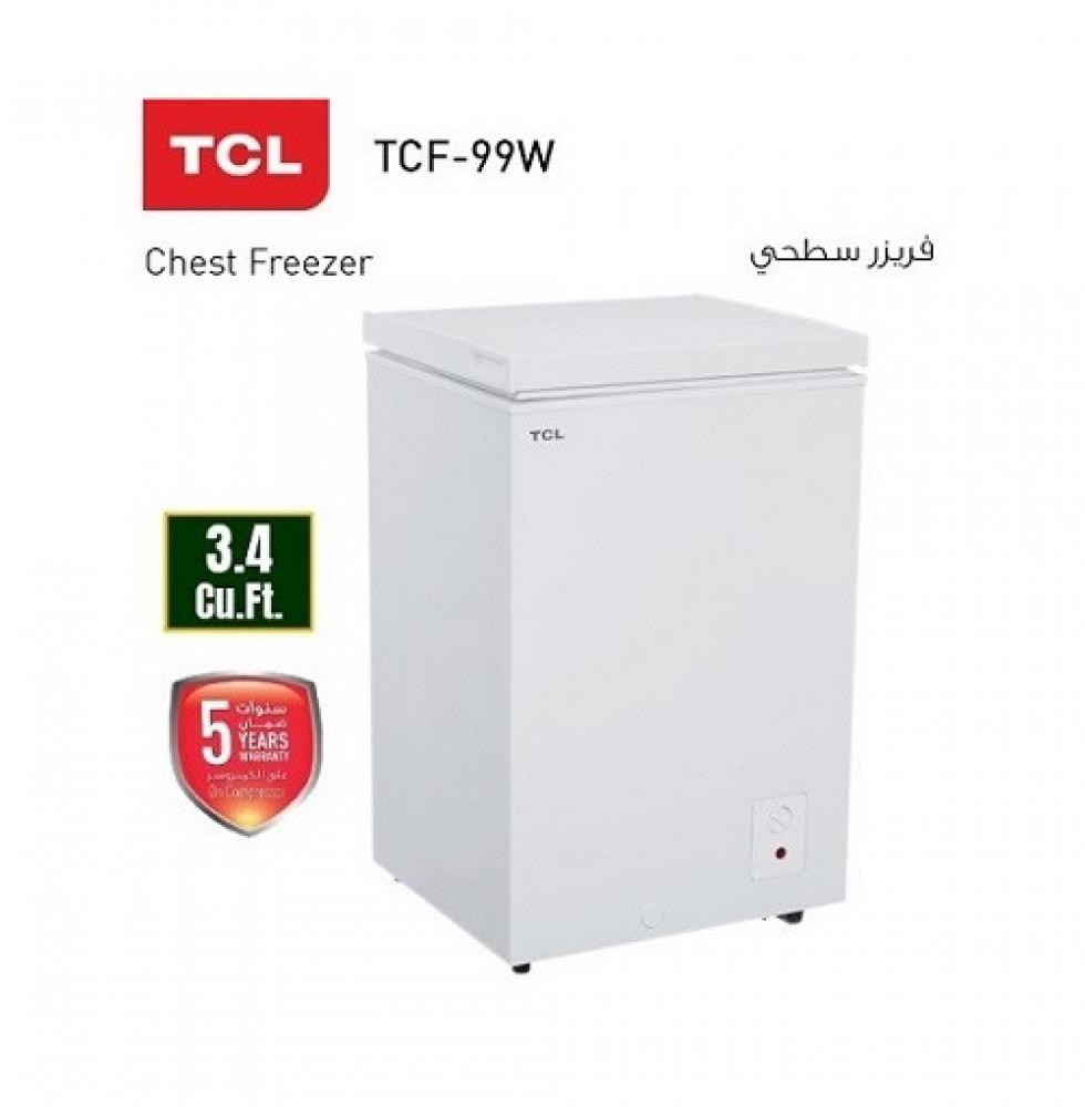 فريزر سطحي تي سي ال TCL Freezer TCF-99W