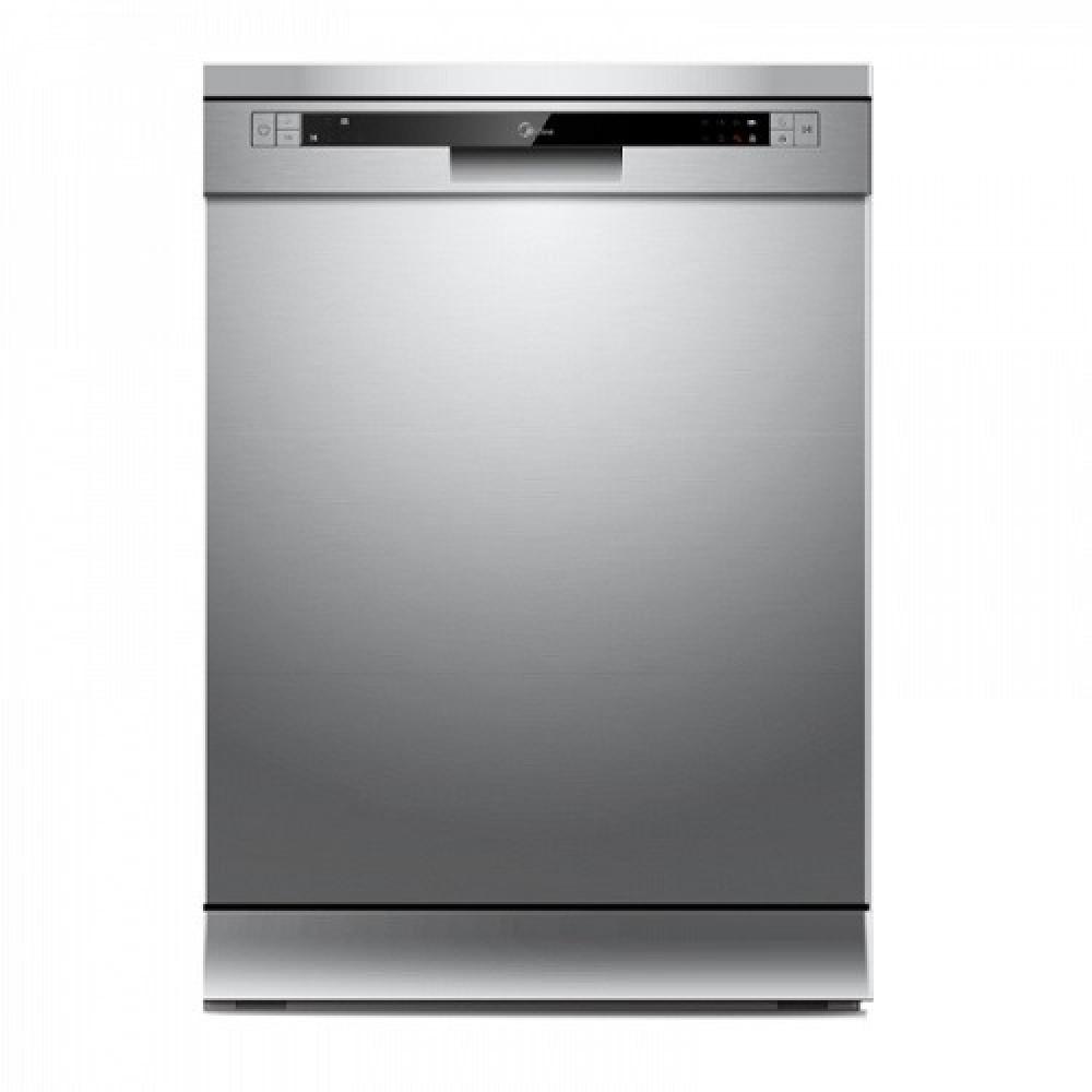 غساله صحون ميديا 12 مكان 7 برامج لون سلفر Midea Dishwasher WQP12-5201C