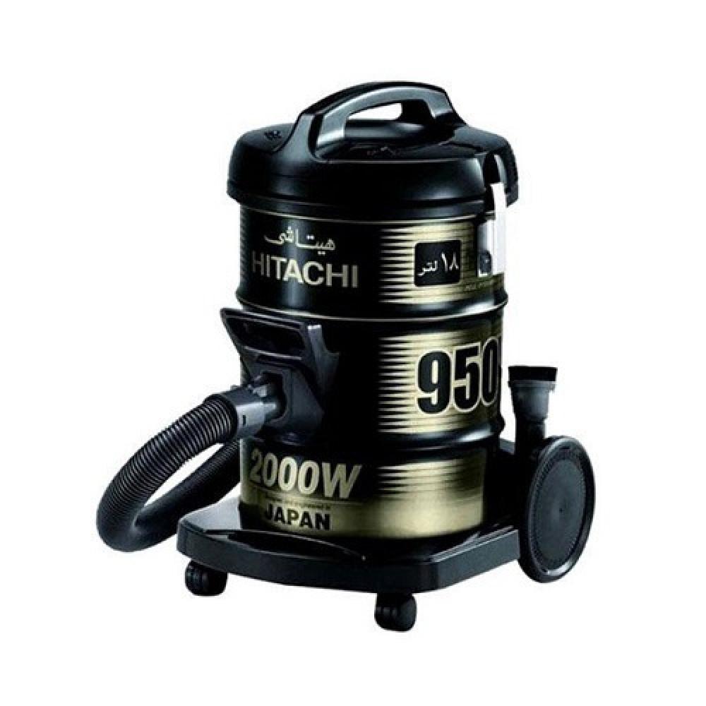 مكنسة كهربائية هيتاشي برميل سعة 18 لتر 2000 واط HITACHI CV-945FSS220BK