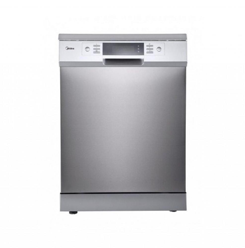 غساله صحون ميديا 15 مكان 8 برامج لون سلفر Midea Dishwasher WQP15J7631A