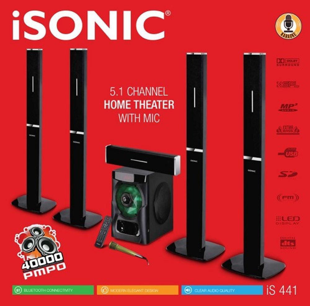 مسرح منزلي آيسونيك بلوتوث مع ريموت ومايكروفون iSonic IS 441