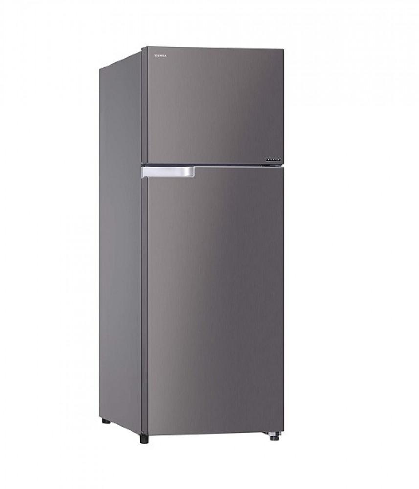 ثلاجه توشيبا 17 قدم سلفر غامق بابين Toshiba H675ABEZ DS Refrigerat