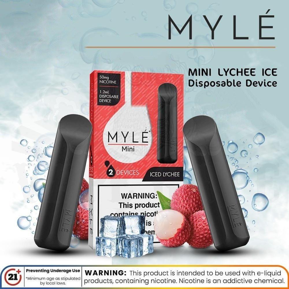 مايلي ميني بنكهة آيس ليتشي - MYLE Mini ICED LYCHEE - شيشة سيجارة مايلي