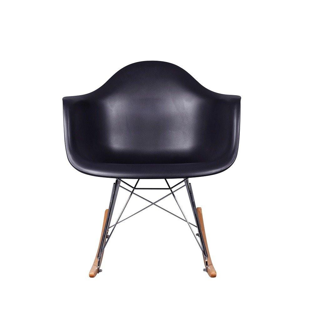 زاوية أمامية لرؤية الكرسي في طقم كراسي نيت هوم أسود من مواسم