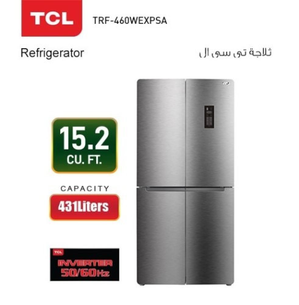 ثلاجة تي سي ال 4 ابواب TCL TRF-460WEXPSA