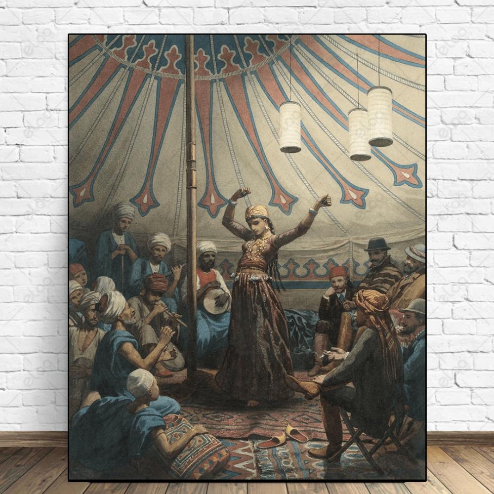 راقصة وخيمة وجلسة طرب الزمن القديم