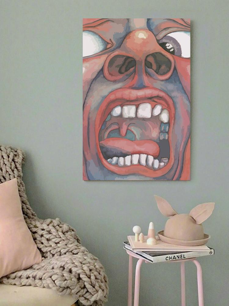 لوحة كينغ كريمسون خشب ام دي اف مقاس 40x60 سنتيمتر