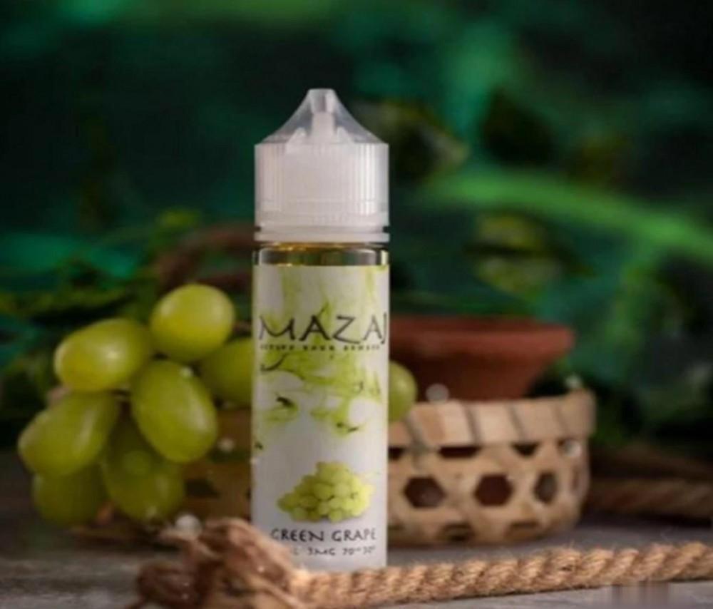نكهة فيب مزاج عنب احضر 60 مل ونيكوتين 3 Mazaj Green Grape