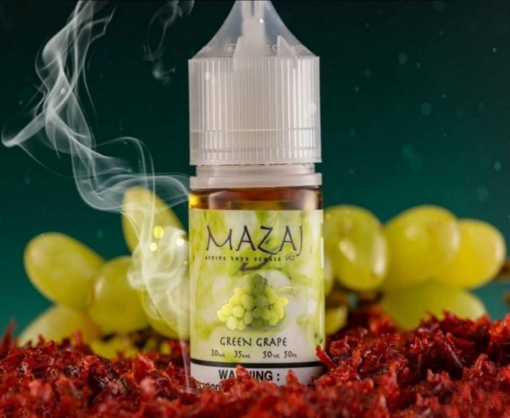 نكهة فيب سولت مزاج العنب الاخضر MAZAJ GREEN GRAPE