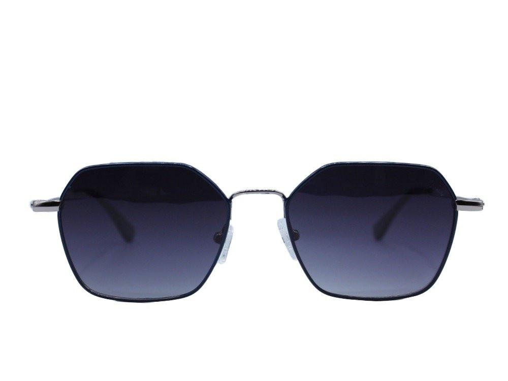 نظاره شمسية سداسية من ماركة VARIETY لون العدسة اسود مدرج ب بإطار كحلي
