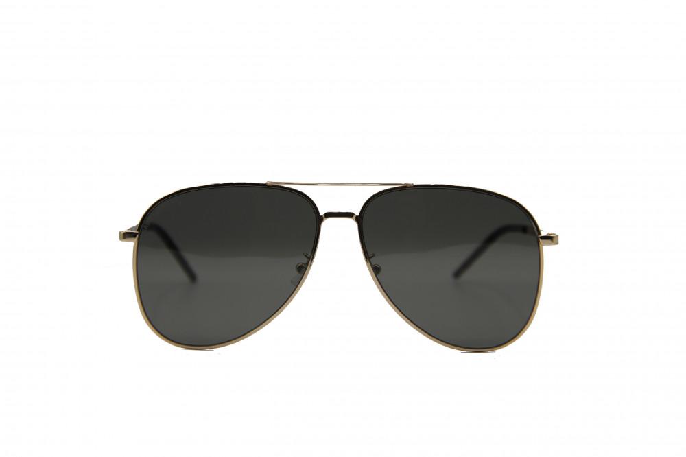 نظاره شمسية دائرية من ماركة SAINIT LAURENT لون العدسة اسود حماية عالية