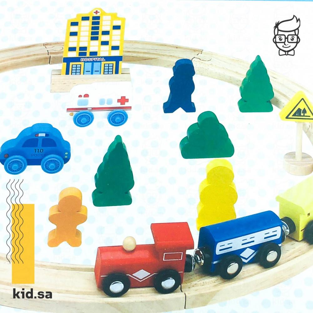 لعبة القطار و السكة الخشبية