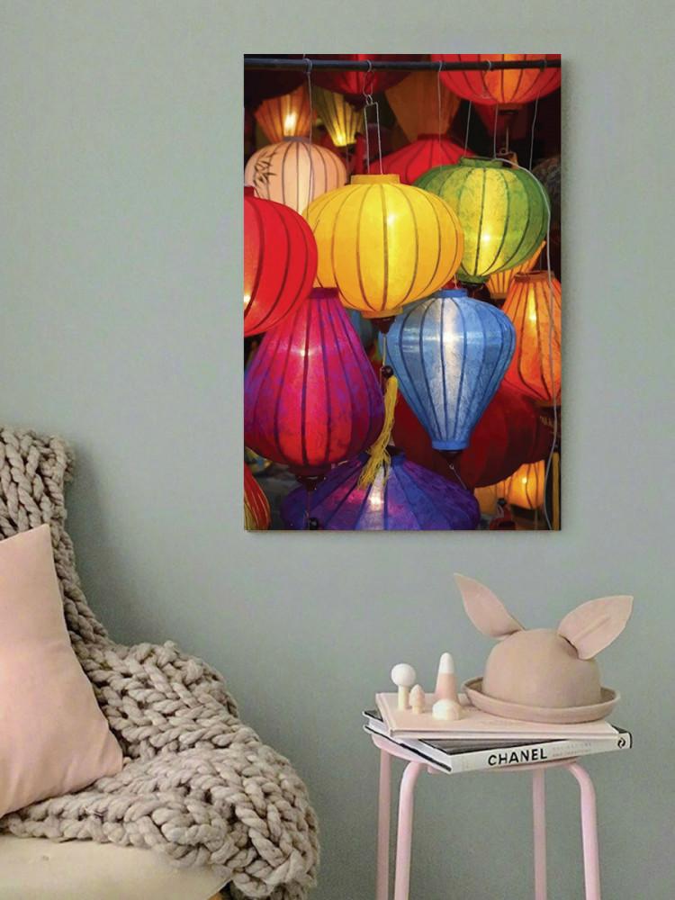 لوحة إضاءات بألوان زاهية خشب ام دي اف مقاس 40x60 سنتيمتر