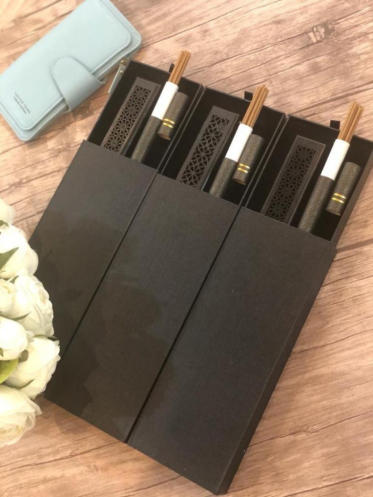عرض 3 بوكسات المباخر الذكية 12 عود داخل كل بوكس مع محفظة نسائية مميزة