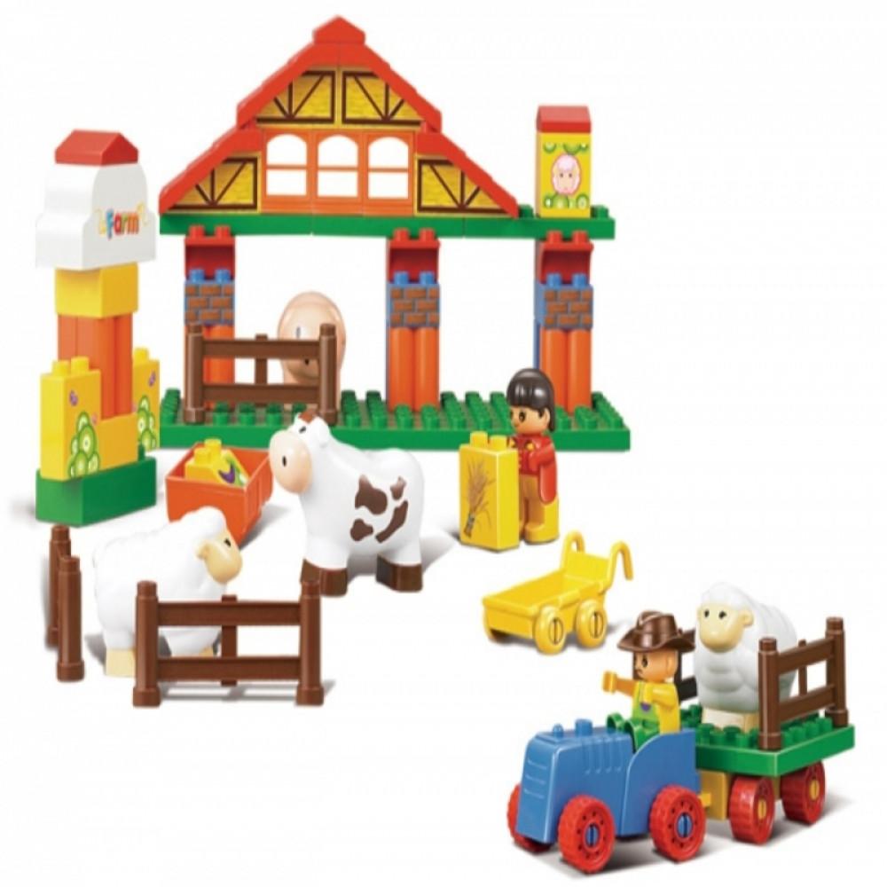 Toy Farm, Sluban, ألعاب, سلوبان, قطع تركيب المزرعة السعيدة