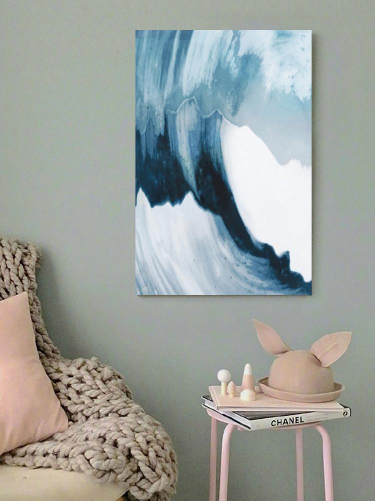 لوحة موجة بحر خشب ام دي اف مقاس 40x60 سنتيمتر