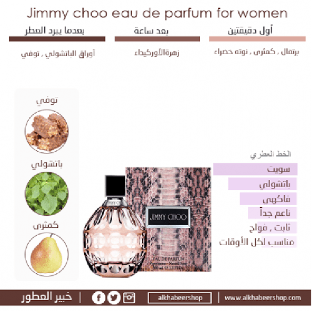 Jimmy Choo Eau de Parfum 3 Gift Set-Sample متجر خبير العطور