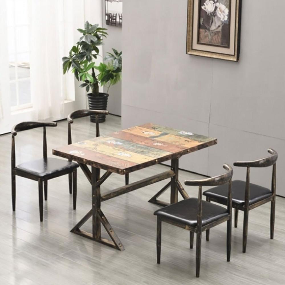 طاولة طعام بتصميم ريفي اثاث رياش اب غرفة طعام