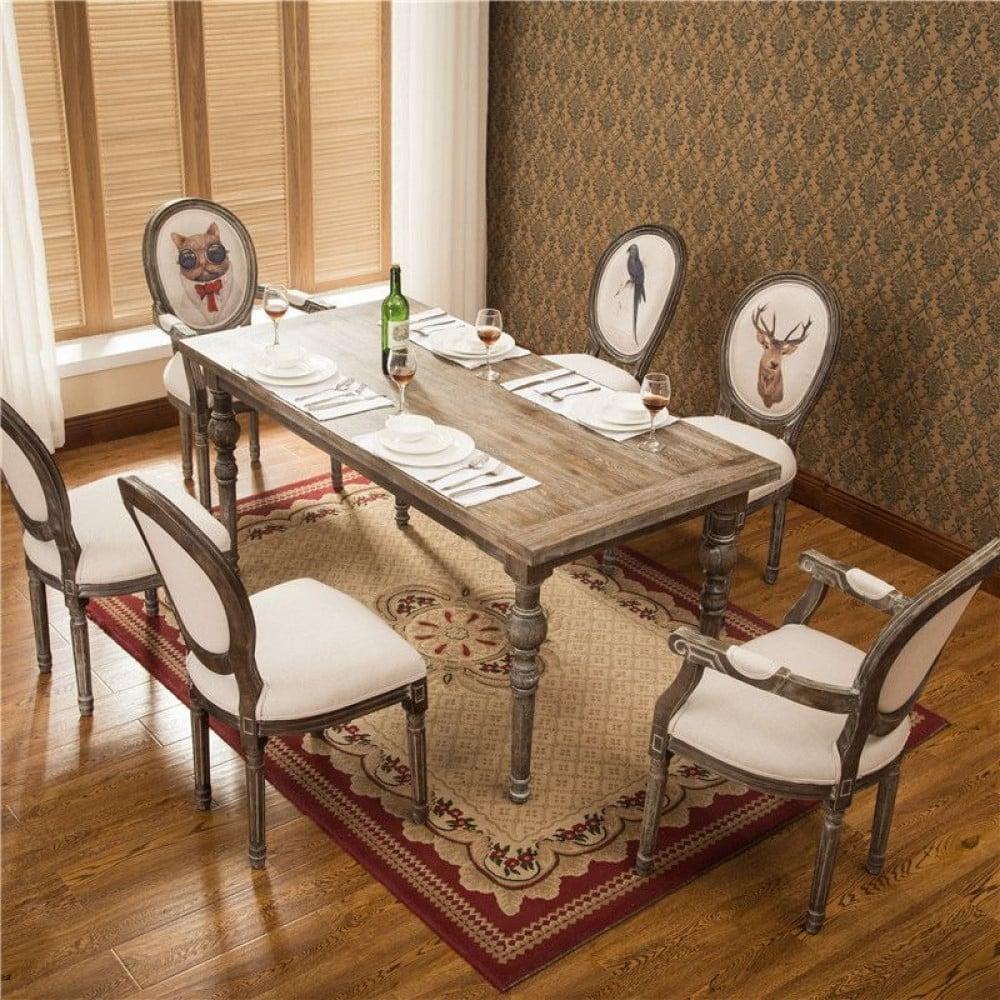 اثاث رياش اب طاولة طعام بتصميم ريفي