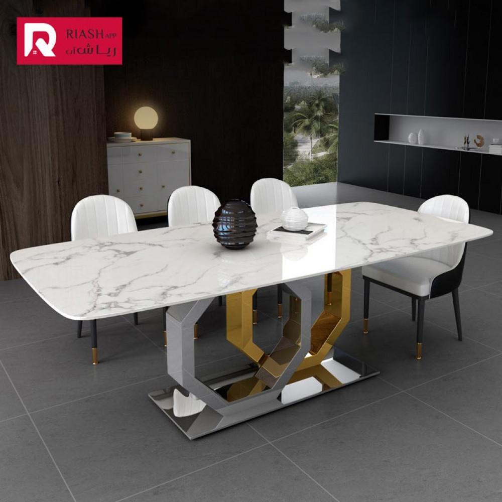طاولة طعام اثاث رياش اب سطح رخامي غرفة طعام