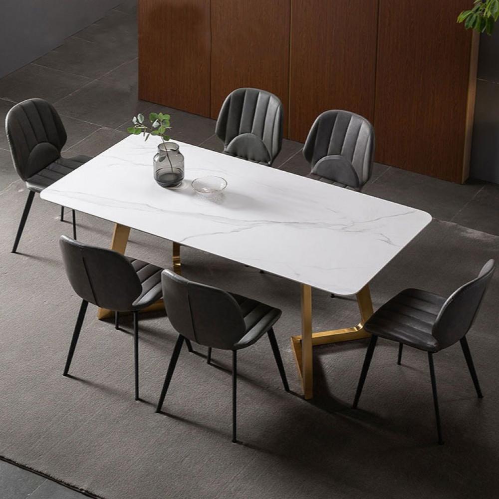 اثاث رياش اب طاولة طعام سطح رخامي غرفة طعام
