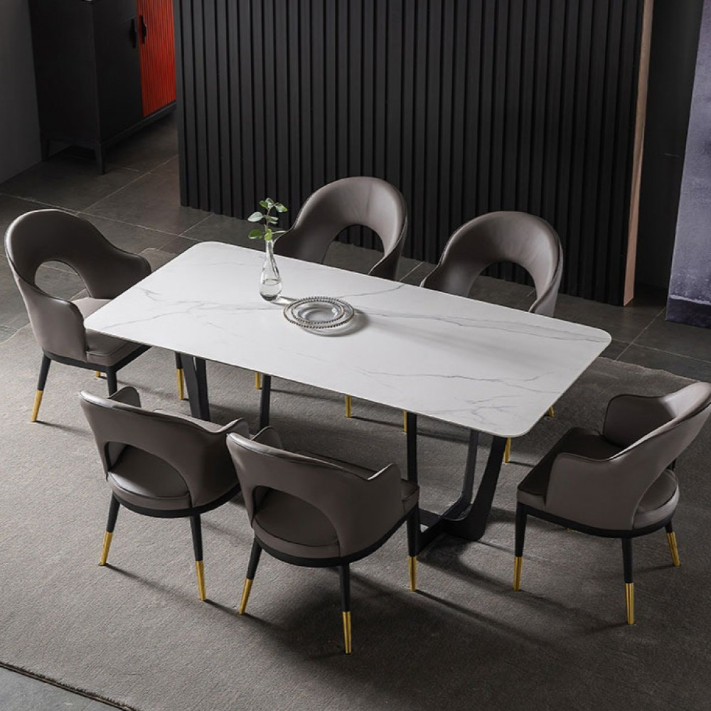 طاولة طعام اثاث رياش اب غرفة طعام سطح رخامي