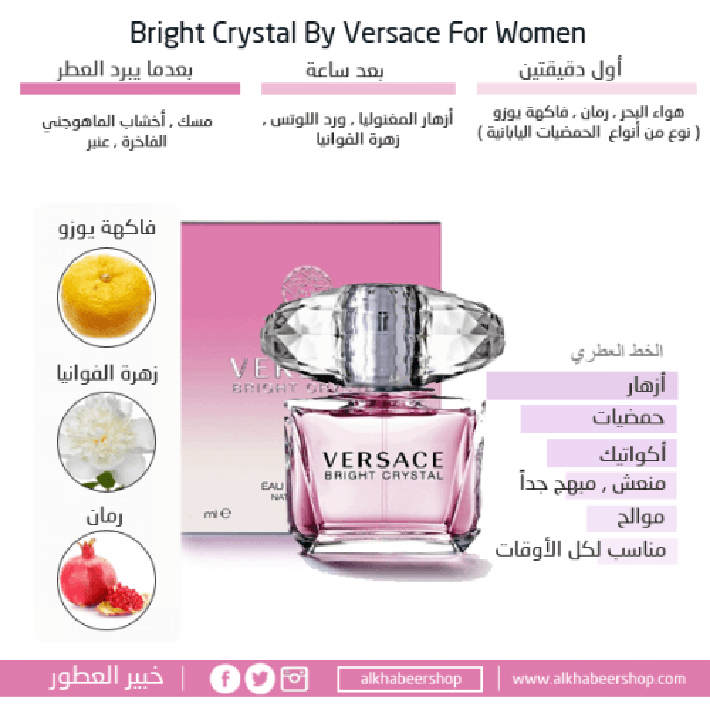 Versace Bright Crystal Eau de Toilette 50ml خبير العطور