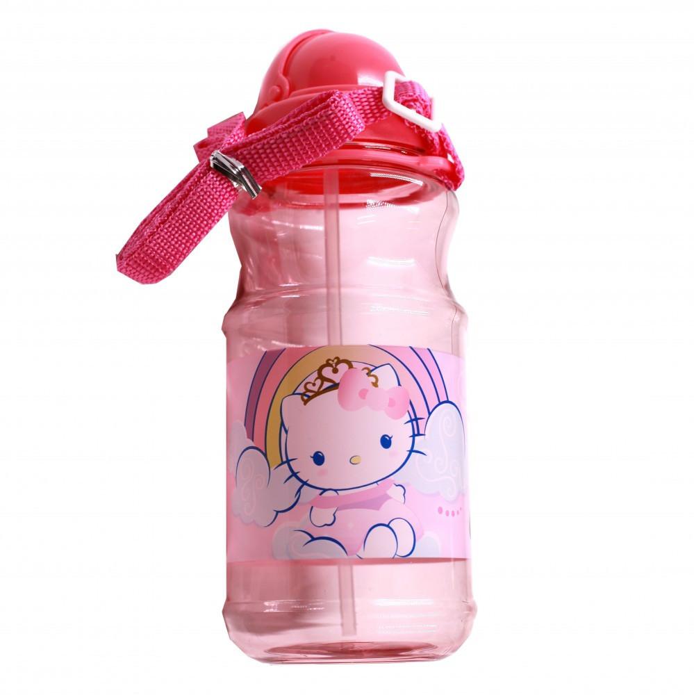 هيلوكيتي- زمزمية بلاستيك شفافة - Hello Kitty Transparent Water Bottle