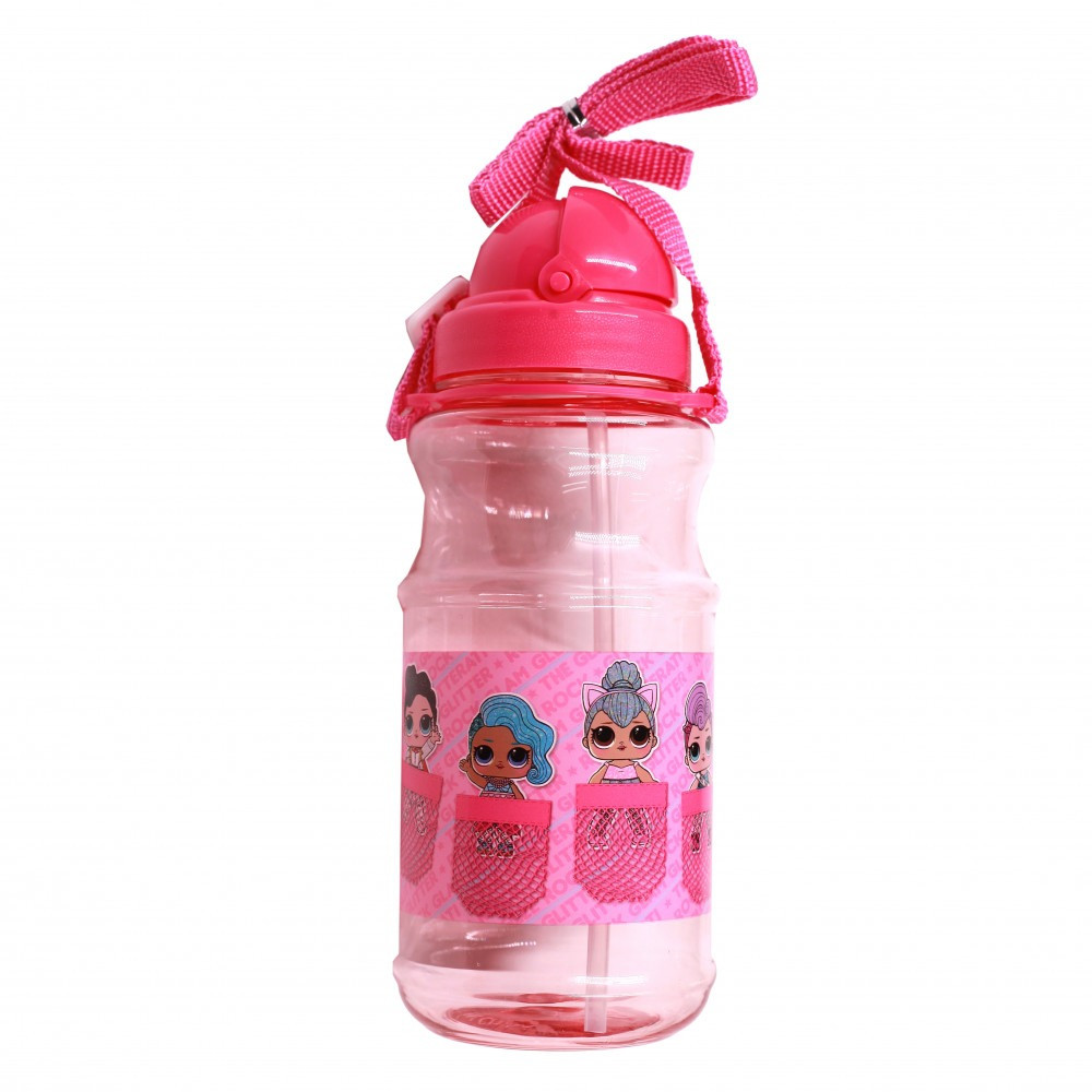 لول- زمزمية بلاستيك شفافة - LOL Transparent Water Bottle