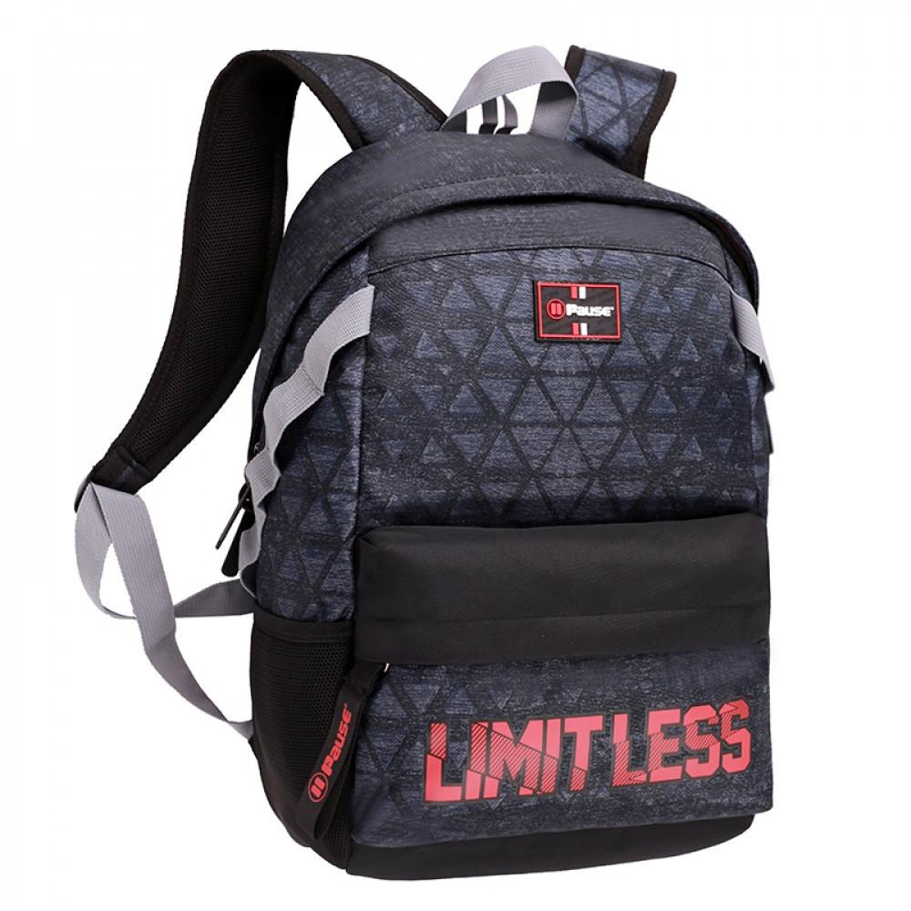 شنطة ظهر 17 انش أسود - بوز Pause Backpack