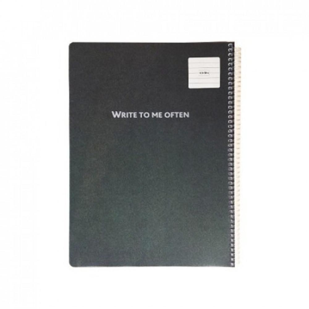 دفتر سلك كاسكن مسطر 100 ورقة A4 غلاف سادة