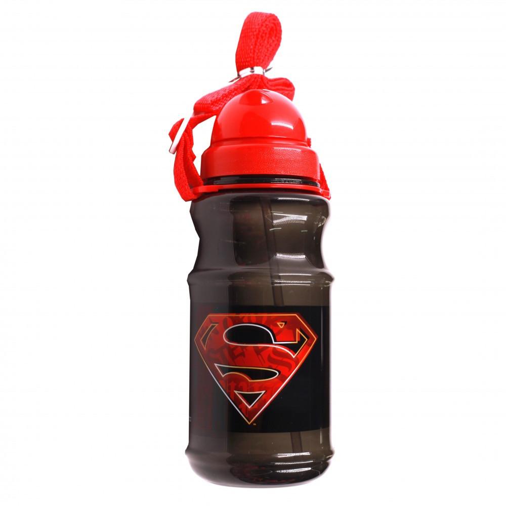 سوبرمان- زمزمية بلاستيك شفافة - Superman Transparent Water Bottle