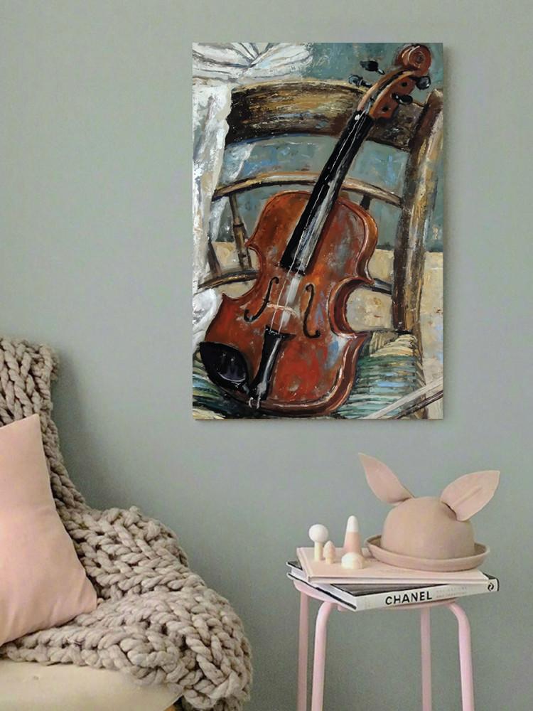 لوحة الكمان خشب ام دي اف مقاس 40x60 سنتيمتر
