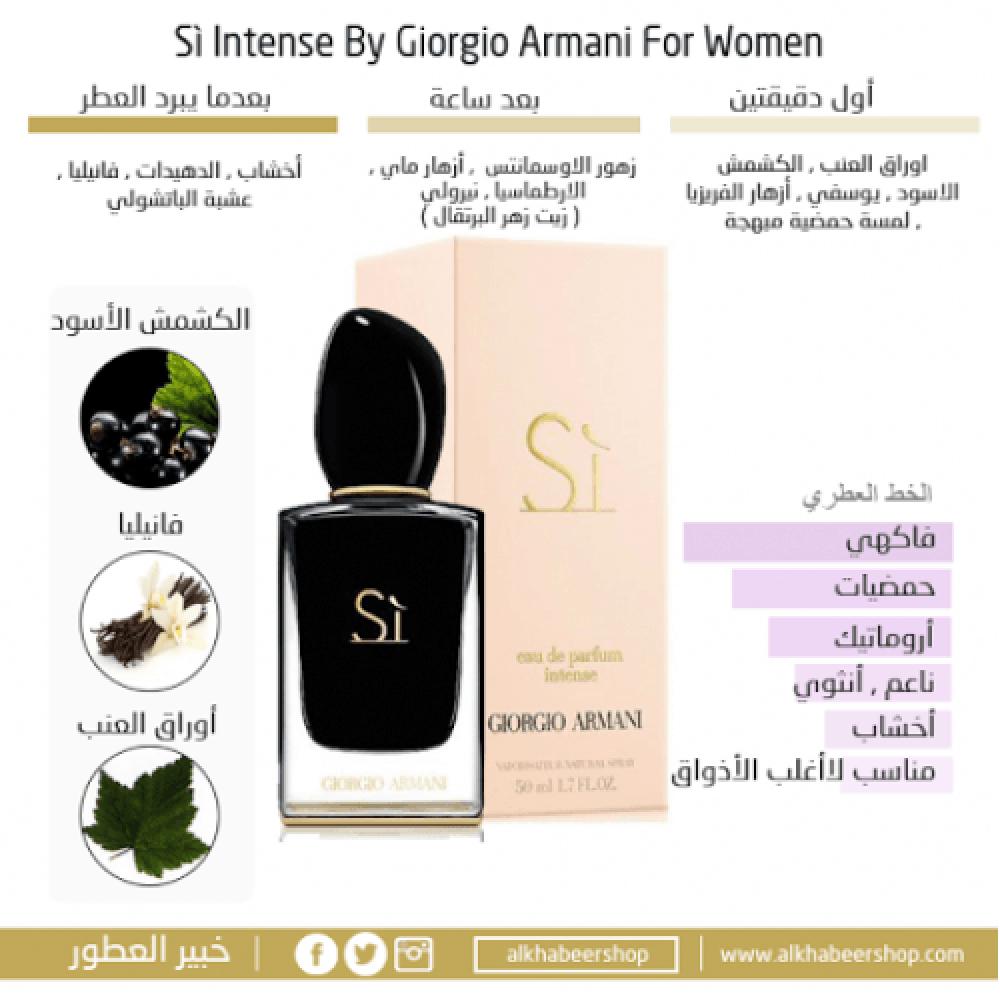 Armani Sì Intense Eau de Parfum 50ml متجر خبير العطور
