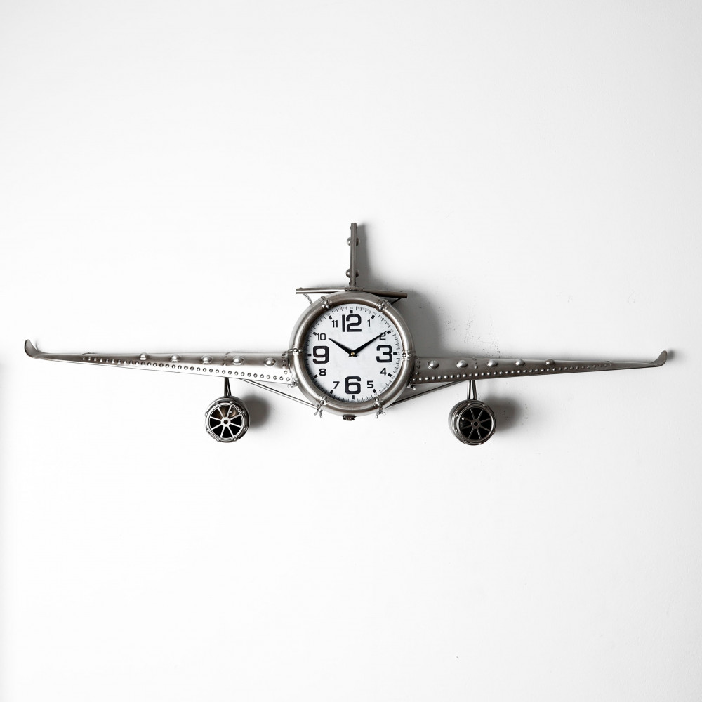 صور ساعة حائط أنتيكة موديل بلان ثري شكل طائرة صناعة معدنية قديمة راقية