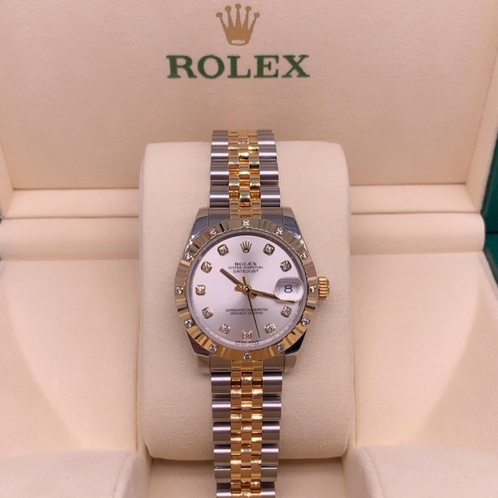 ساعة rolex نسائية أصلية فاخرة مستعملة