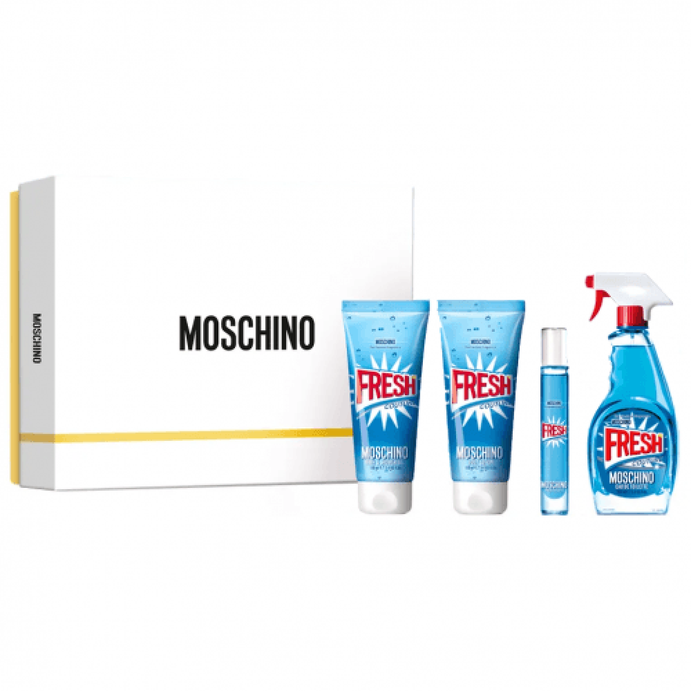 Moschino Fresh Couture Eau de Toilette 100ml 4 Gift Set خبير العطور