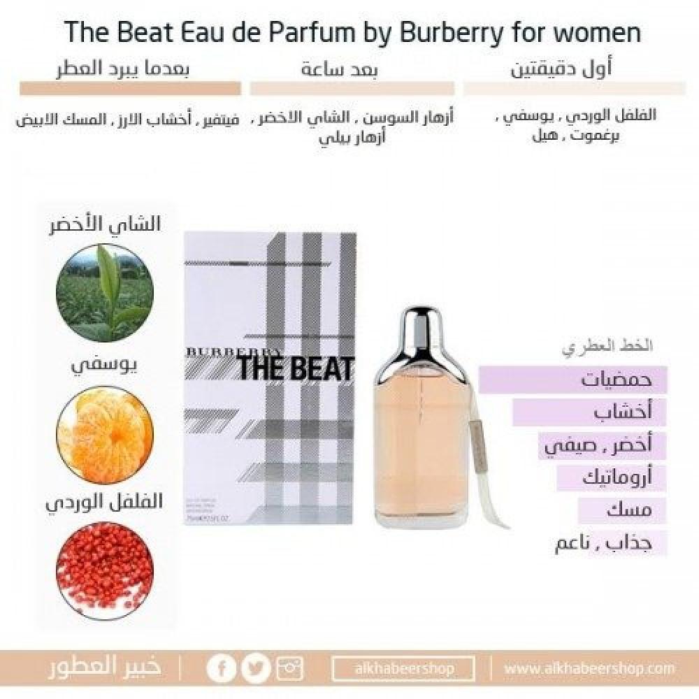 Burberry The Beat for Woman Eau de Parfum 75ml خبير العطور