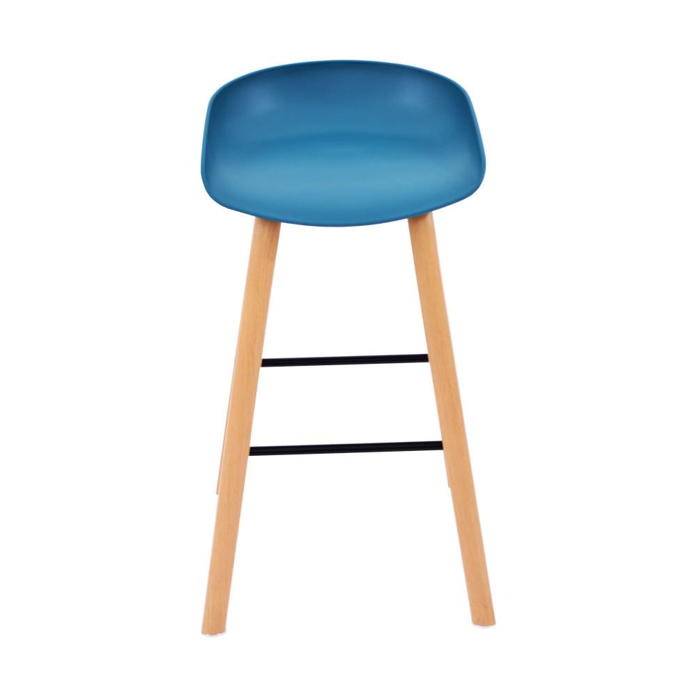 كرسي بار فيبر ازرق من كاما C-696H-BLUE