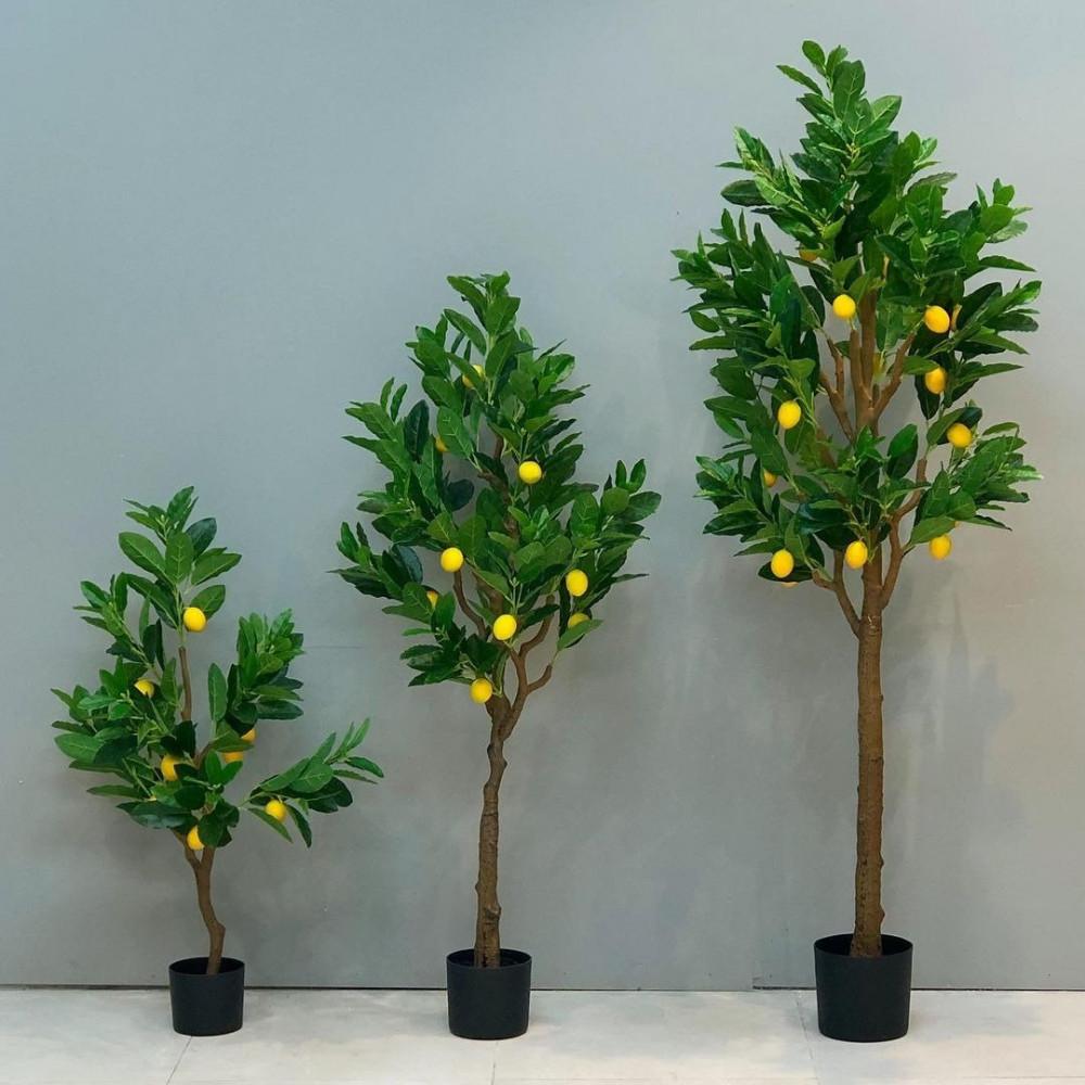 شجرة ليمون صناعية نباتات زينه ومراكن شجر أخضر صناعي ديكورات المنزل