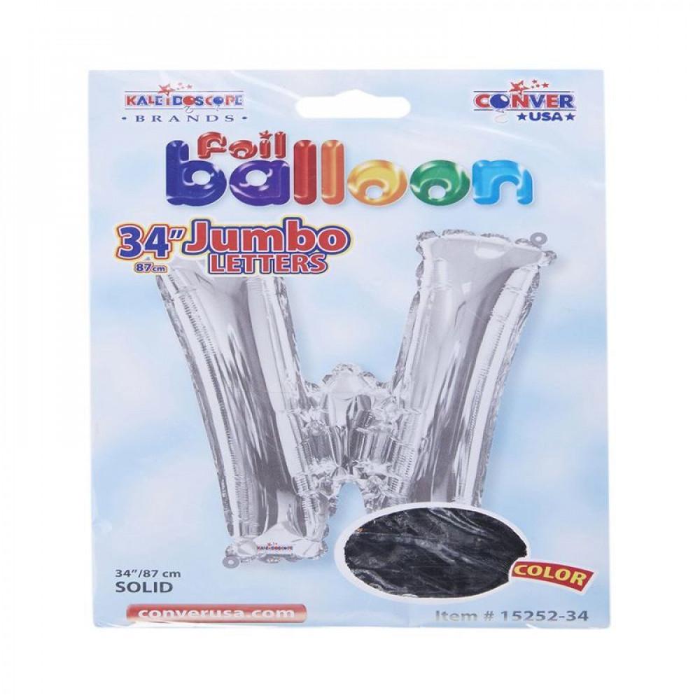 بالون فضي, Silver Balloon, بلونات أحرف, بالون حرف W