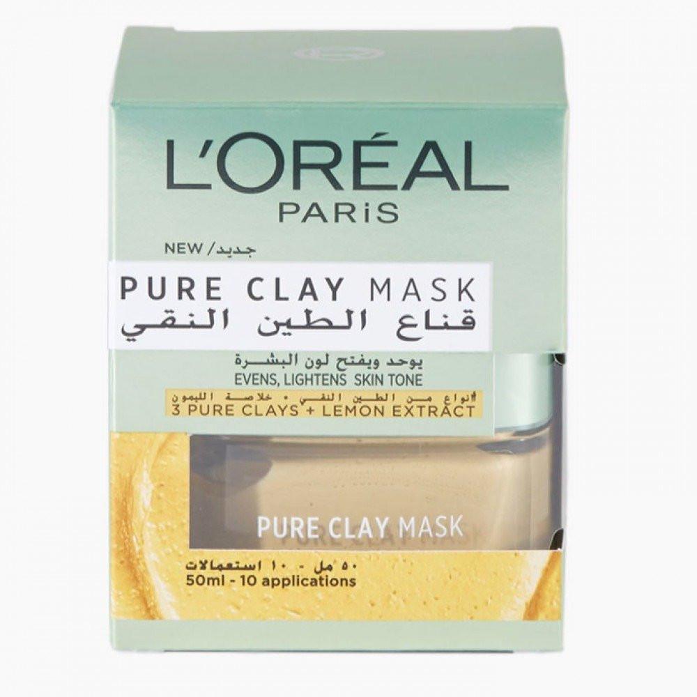 لوريال باريس قناع الطين بخلاصة الليمون لتوحيد وتفتيح البشره