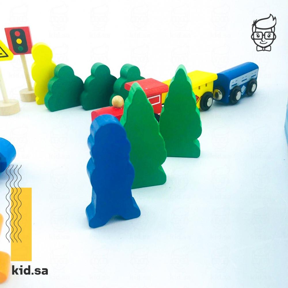 العاب خشبية قطارات للاطفال حلوة