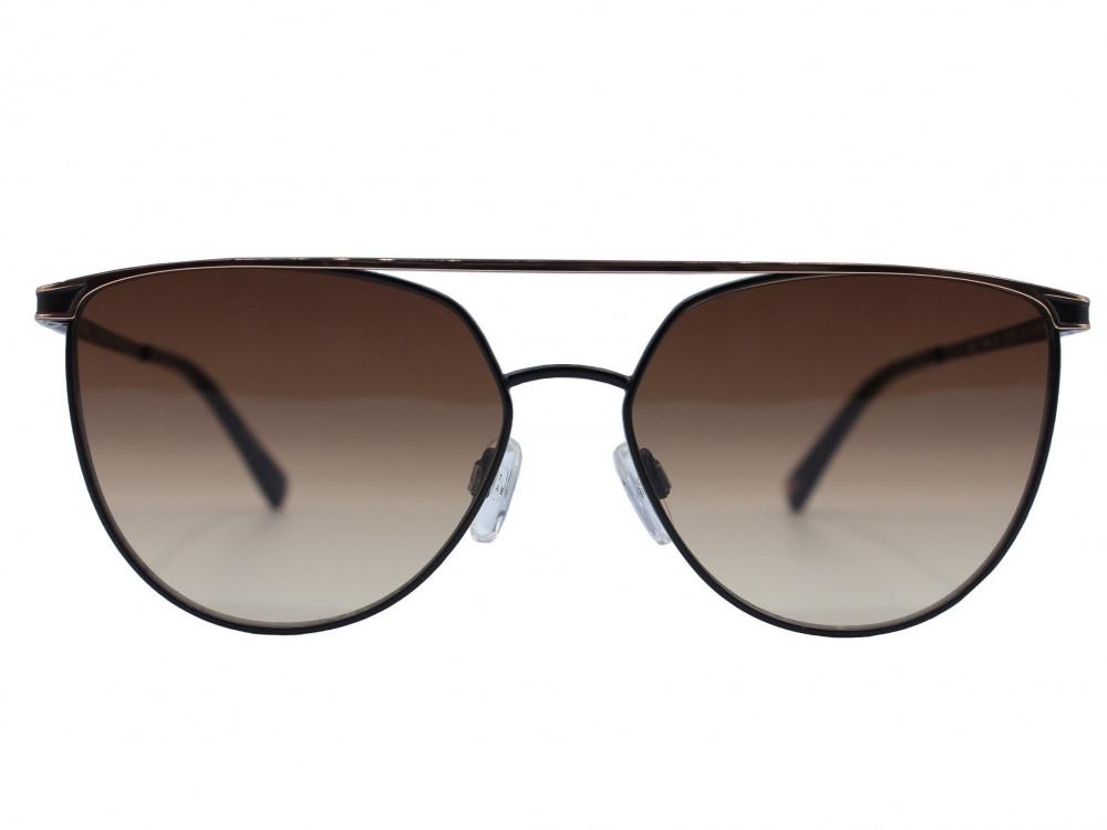 نظارة شمسية ماركة TED BAKER نسائية لون العدسة اسود وذهبي ولون الإطار أ