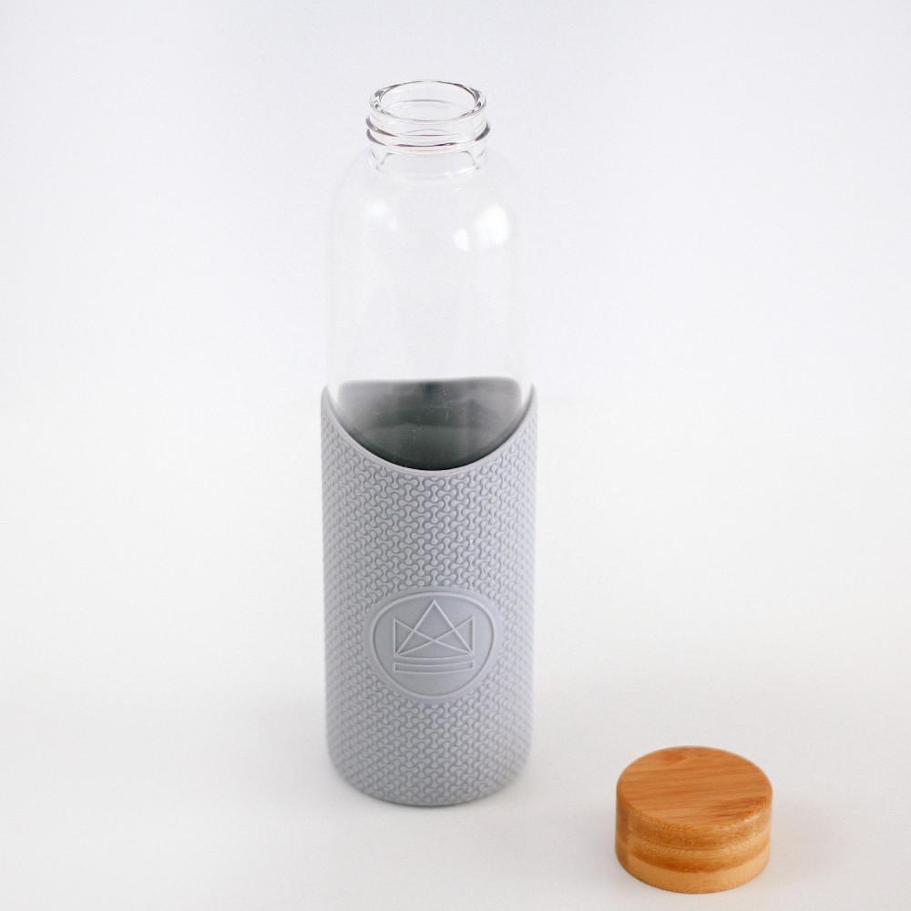 قنينة زجاج قارورة نادي كفر حماية سيليكون سعة 550 مل لحفظ الماء بارد