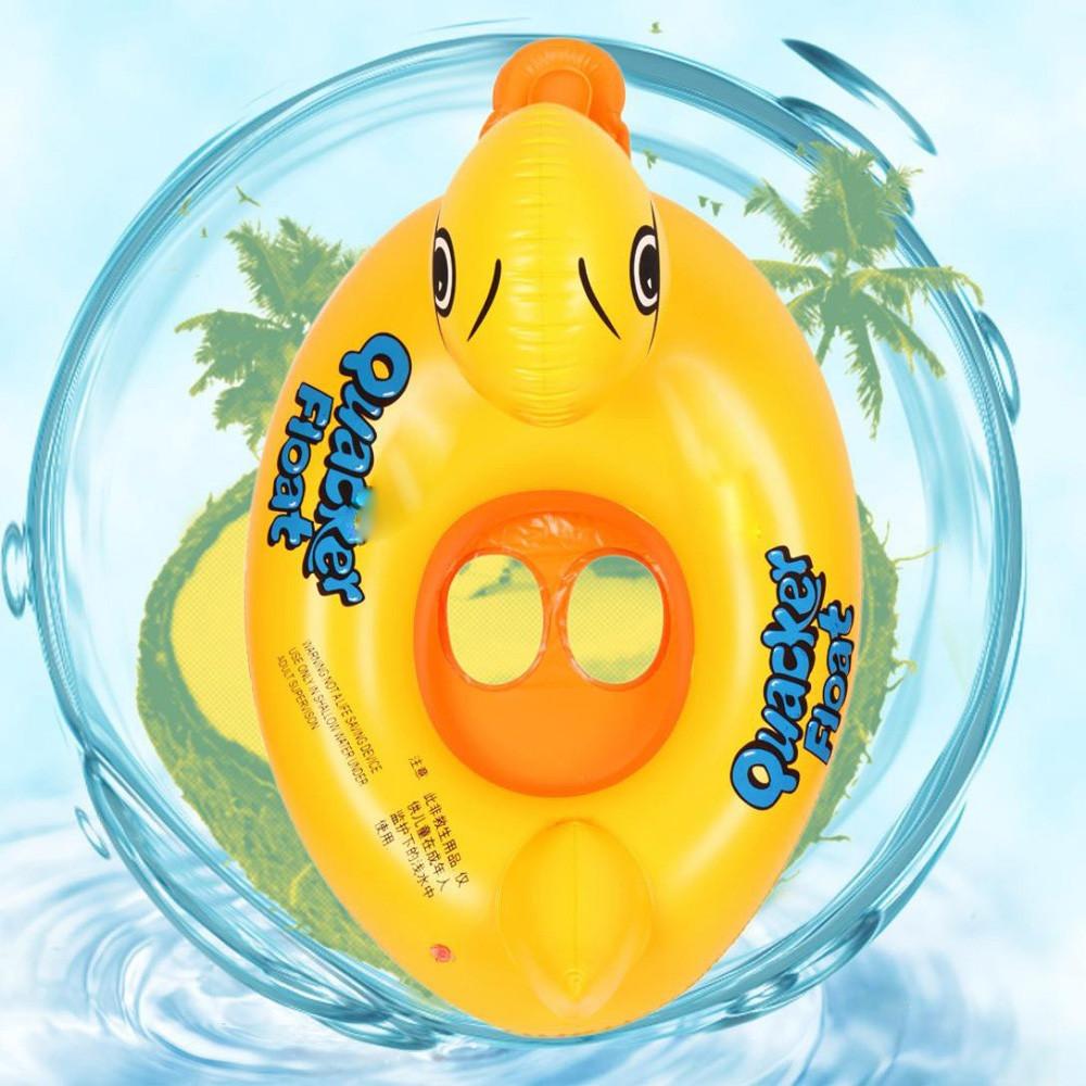 حوض سباحة واستحمام على شكل بطة قابل للنفخ للأطفال للعب بالماء مقاس