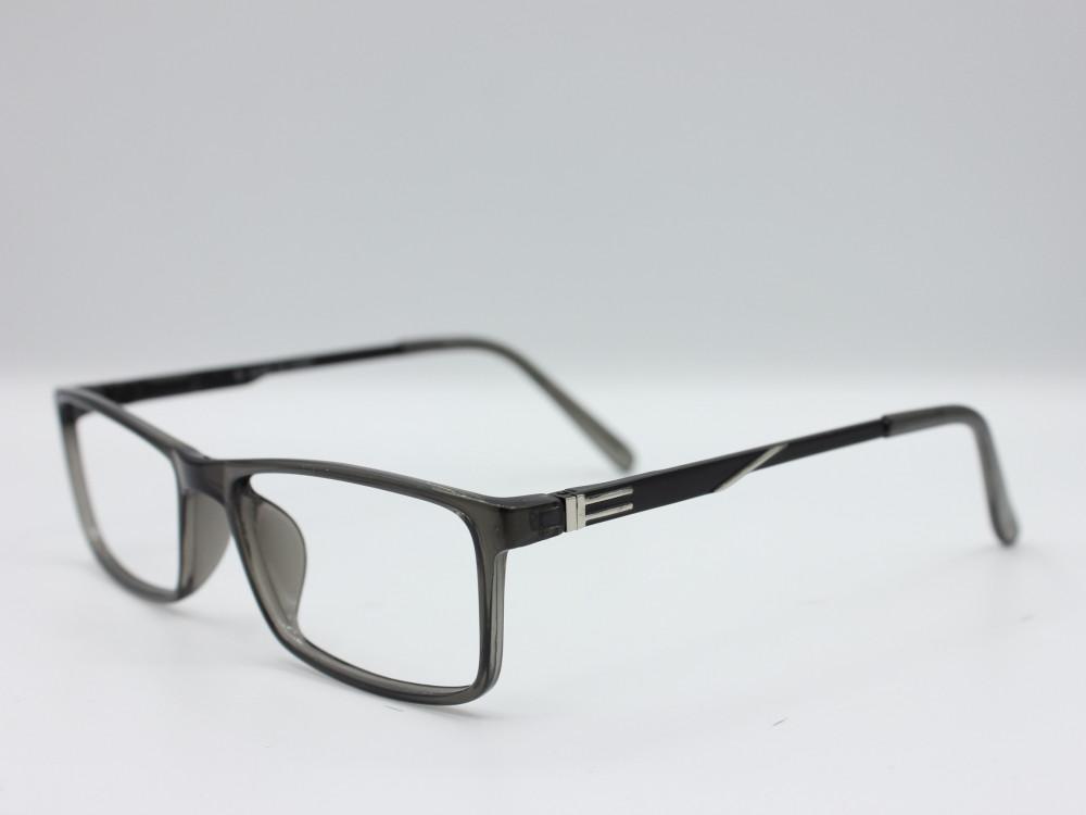 نظارة طبية من ماركة T بتصميم مستطيل عدسات بحماية الاطار رمادي رجالي