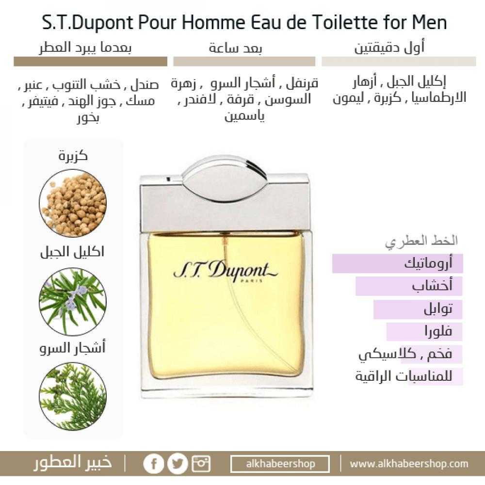 STDupont Pour Homme Eau de Toilette 100ml متجر خبير العطور